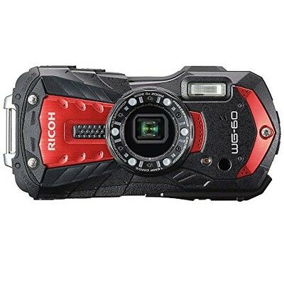 как выглядит 2018 NEW RICOH waterproof digital camera red RICOH WG-60 RD 03831 from japan фото