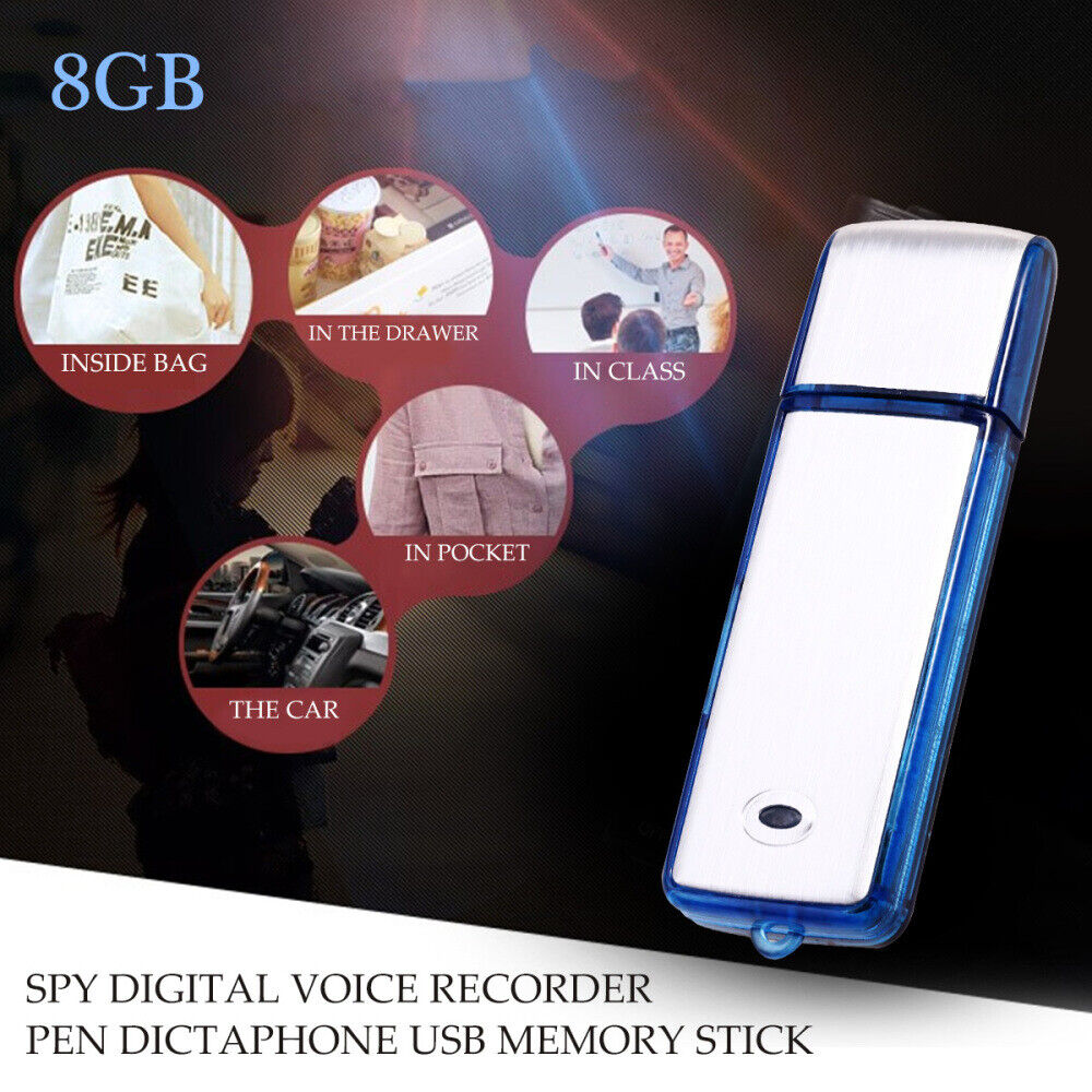 8GB Mini SPION SPIONAGE Aufnahmegerät Audio Voice Recorder Digital Diktiergerät