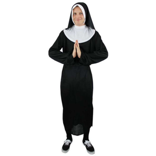 Mens Naughty Nun Religious Habit Funny Stag Do Fun Fancy Dress Costume Outfit