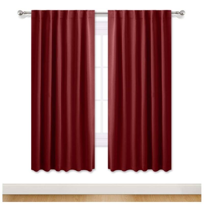 72in long curtains with blackout thermal insulate