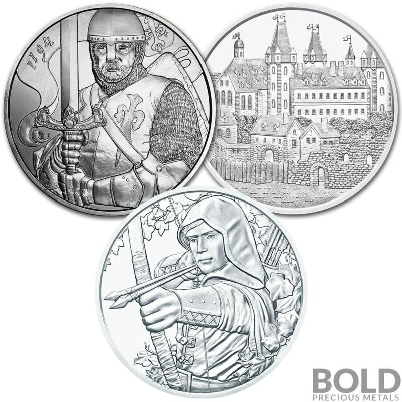 BOLD Set: Austrian Mint 825th Anniversary - 3 Coin Collector Set