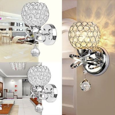 Modern LED Crystal Wall Lamp Bathroom Mirror Front Light Fix
