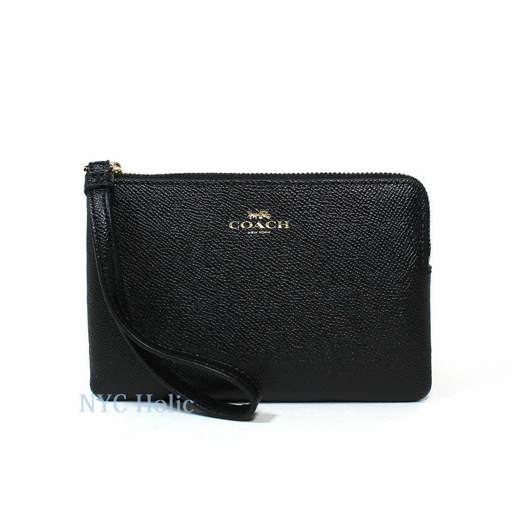 New Coach F58032 F58035 Corner Zip Wristlet With Gift Box New With Tags Midnight