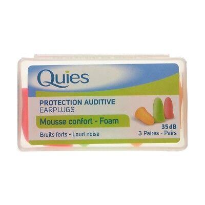 Quies Foam Ear Plugs x 3 Pairs (FREE UK P&P) (Quies Ear Plugs)