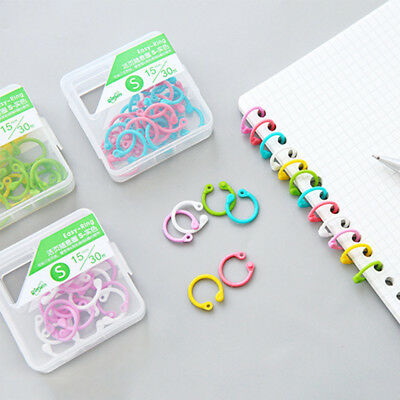 Circle Keychain Loose Leaf Ring Hinged Binder Scrapbook Clips Easy Ring