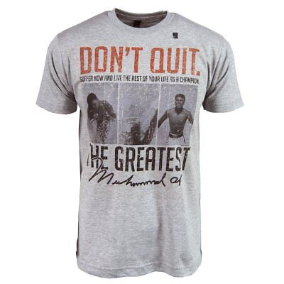 """Muhammad Ali Official Licensed T-Shirt /""""The Greatest/"""" New Soft Dark Gray GOAT"""