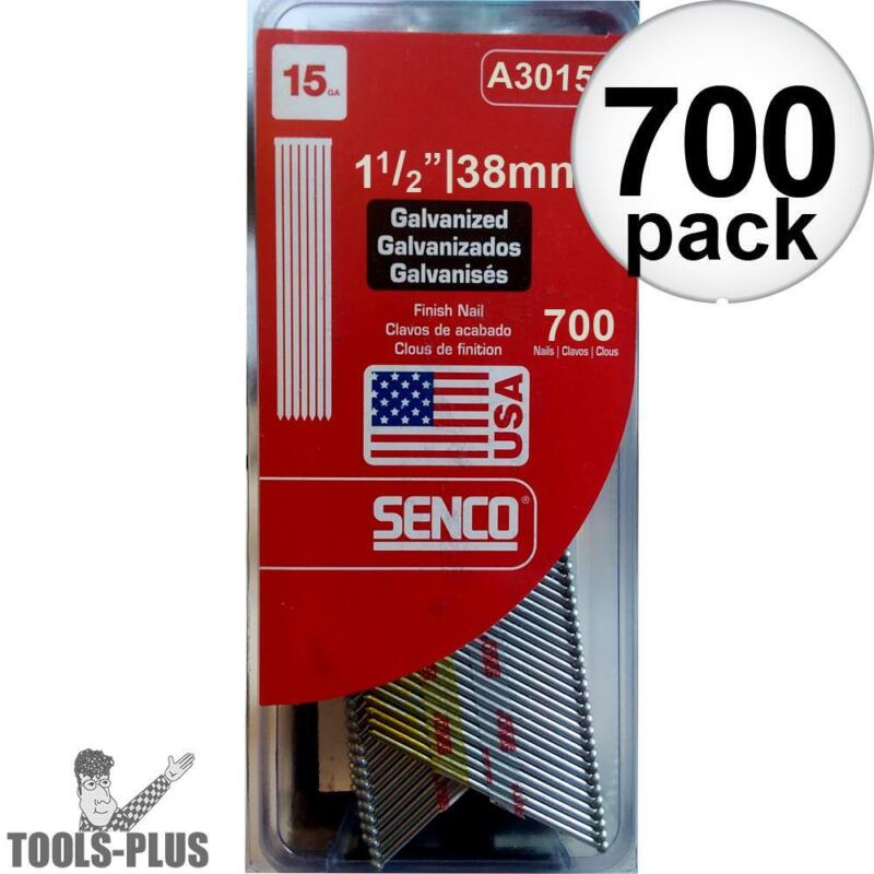 "Senco 700pk Bright Basic Angled Finish Nails 15 Ga. x 1-1/2"" A301500 NEW"