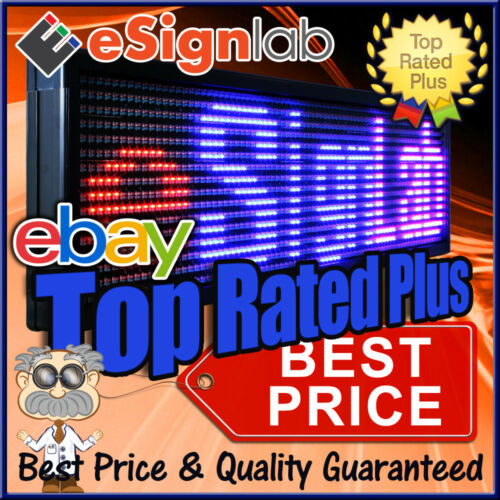 "Led Sign 3 Color Rbp Programmable Scrolling Outdoor Message Display 19"" X 69"""