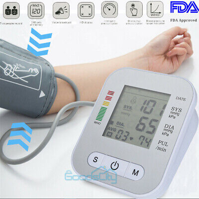 Automatic Upper Arm Blood Pressure Monitor Voice Reading Bp Cuff Meter W Voice