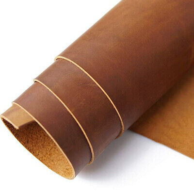 Thick Leather Pieces Premium Genuine Cowhide 5-6 OZ Upholstery Craft 30x15cm