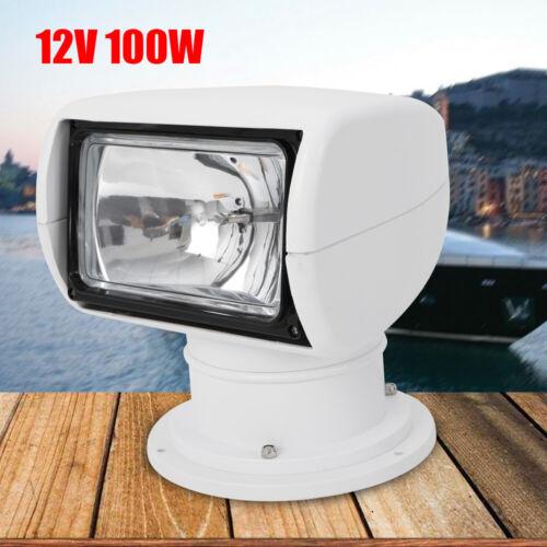 US Warehouse Remote Control Spotlight SUV Car Marine Searchlight 12V 100W Bulb