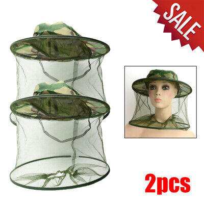 2x Beekeeping Garden Guard Cowboy Hat Anti Mosquito Bee Insect Bug Head Veil