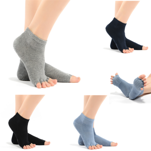 Non Slip Yoga Barre Socks Cotton Skid Pilates Grips Ballet Toes Socks For Womens Clothing & Accessories