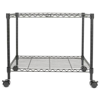 Single Tier Metal Rolling Mobile File Cart 23.6 X 12.6 X 18 Black