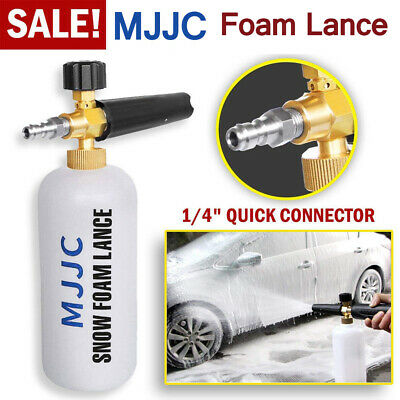 MJJC Pressure Washer Snow Foam Lance 1/4'' Spray Jet Car Wash Cannon Gun 1L, used for sale  Shipping to South Africa