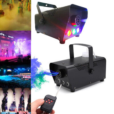 500W RGB LED Fog Smoke Machine Remote Control for Stage Fogger Party Club Disco