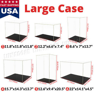 Large Acrylic Display Case Collectibles Box Dustproof Self-install Diecast 118