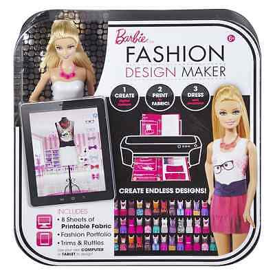 NEW SEALED~BARBIE~ Fashion Design Maker, Doll, Clothes, Accessories,Patterns $49