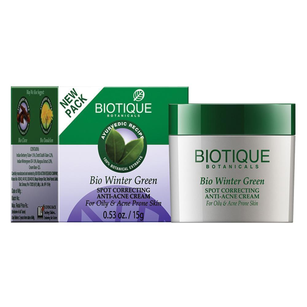 Biotique Bio Winter Green Spot Correcting Anti Acne Cream (1