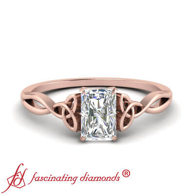 3/4 Carat Radiant Cut Diamond Celtic Split Shank Solitaire Engagement Ring SI1 ()