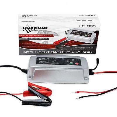 Batterie Ladegerät 2 4 8 Ampere 12V AGM GEL CALCIUM Temperaturfühler Auto Moto