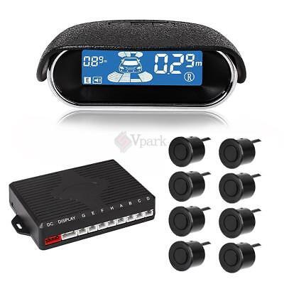 Car Parking Sensor Kit Led Display 8 Rear Front View Reve...