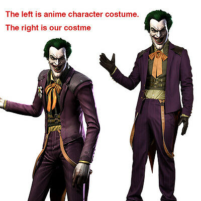 Game Injustice Gods Among Us Joker Clown Cosplay Costume Uniform Custom (Custom Clown Kostüme)