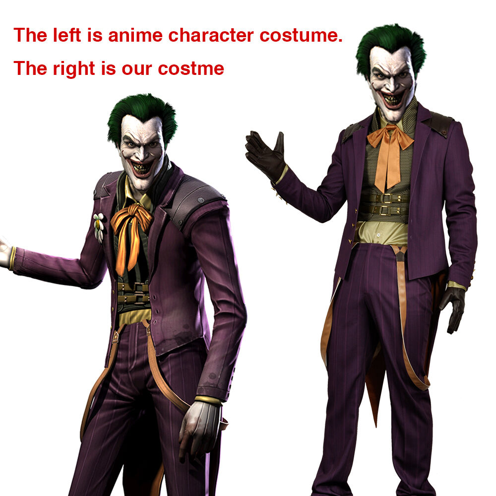 Game Injustice Gods Among Us Joker Clown Cosplay Costume ...