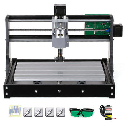 Cnc3018 Diy Router Kit 2-in-1 Laser Engraving Machine 3 Axis W Er11 Collet