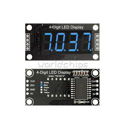 Blue 0.36 Tm1637 7-segment 4-digit Digital Tube Led Display Module For Arduino