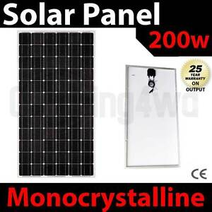 200w solar Panel caravan power battery charger 12v mono generator Wangara Wanneroo Area Preview