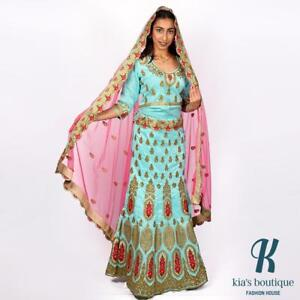 New Lengha with heavy zardosi work on overall bottom bridal 15% discount going on till Oct 31st.