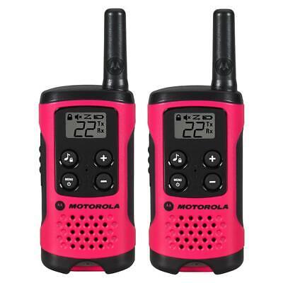 Motorola T107 Talkabout Two-Way Radios Walkie Talkies Pink - 2-pack
