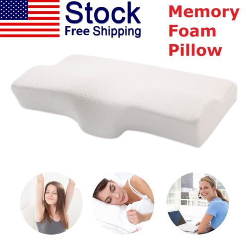 Contour Memory Foam Pillow Luxury Firm Head Back Orthopaedic Neck Support Bed Pillows