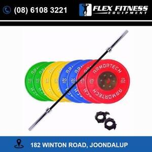160KG Competition Bumper Plate and Performance Barbell Package!