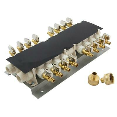 Apollo 16-port Pex Manifold With 12 In. Brass Ball Valves