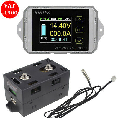 Vac1300a Multifunction Wireless Bi-directional Ammeter Capacity Volt Watt Meter