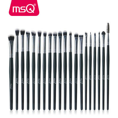 20PCs Eye Makeup BRUSHES Set Kit Blusher Powder Eyeshadow Eyeliner Lip Brush MSQ