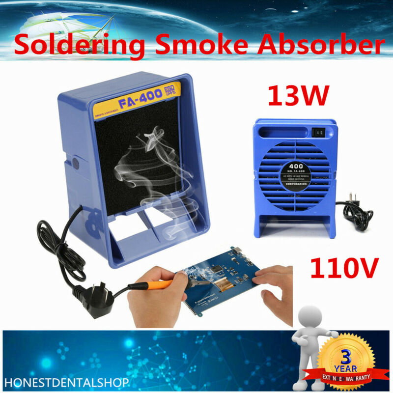 SALE Solder Smoke Absorber Remover Fume Extractor Air Filter Fan for Soldering
