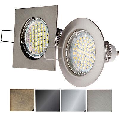 LED Einbau-strahler GU10 Starr Rund Eckig Einbauleuchte Spot LED PORTO-2