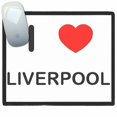 I Love Liverpool - Thin Pictoral Plastic Mouse Pad Mat Badgebeast