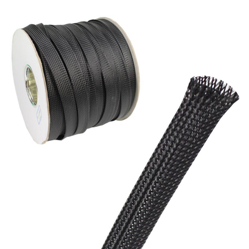 Cord Protector Expandable Cable Sleeving Sheathing Braided Wires Loom Tube Lot