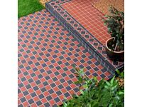 Victorian style red and black mosaic tiles as new (£85 plus retail) buyer to collect)