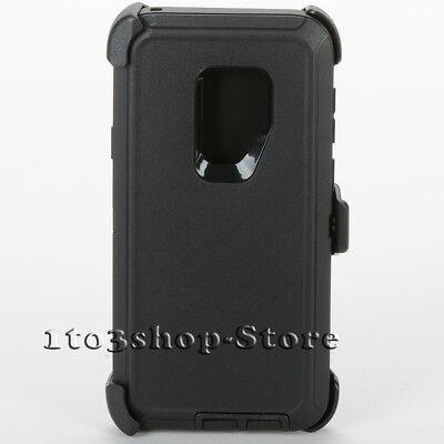 Samsung Galaxy S9+ Plus Hard Case w/Holster Belt Clip fits Defender - Black