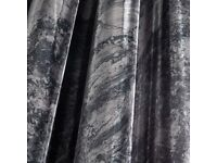 Grey Marble Fully Lined Eyelet Curtains by Catherine Lansfield