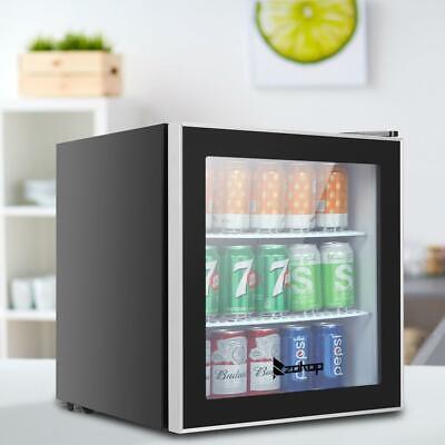 Zokop 60 Cans 1.6cu.ft. Beverage Soda Beer Bar Mini Fridge Cooler Glass Door