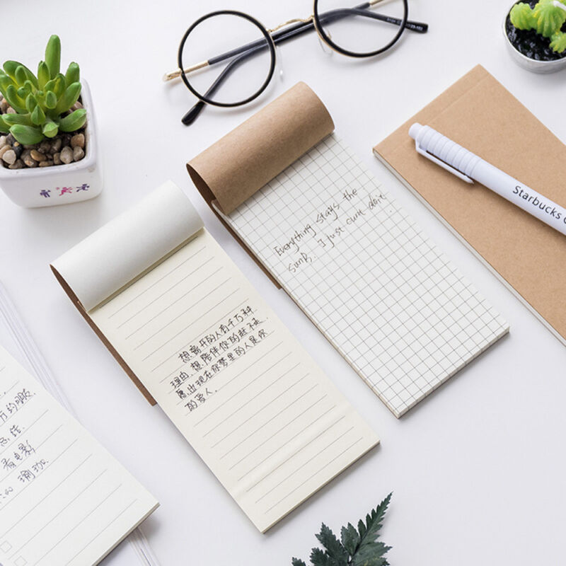 1 pc Craft Cover Planner Notes To Do List Memo Stationery Grid//Line//Note