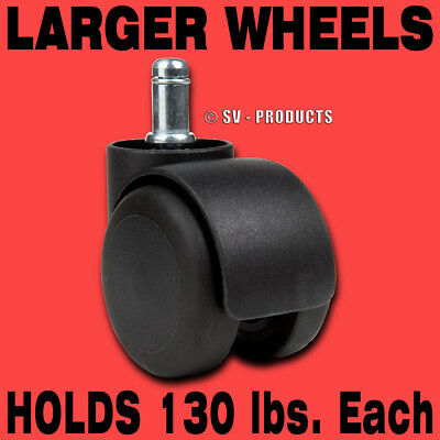 5 Pc Office Chair Casters Soft Wheel Tire - 129