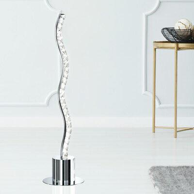 LED Cristal Lámpara de Mesa Salón Ess Iluminación Habitación Ondas Diseño Pie
