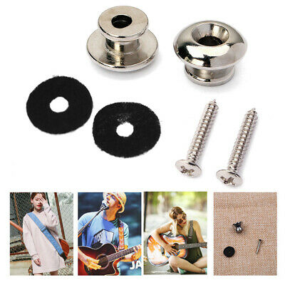Guitar Strap Locks Metal Pin Button For Acoustic Electric Guitar Bass Accessory